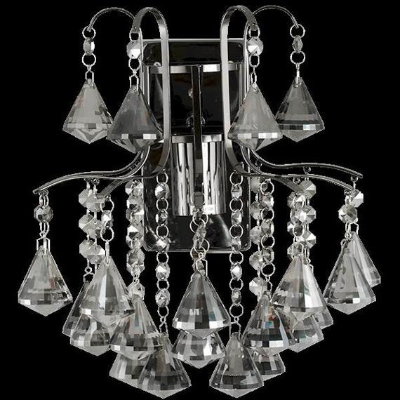 Lampa Ścienna kryształowa Elem Belweder 6246/1 9BC grafit