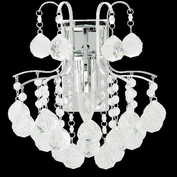 Lampa Ścienna kryształowa Elem Monte Carlo 6247/1 8C chrom
