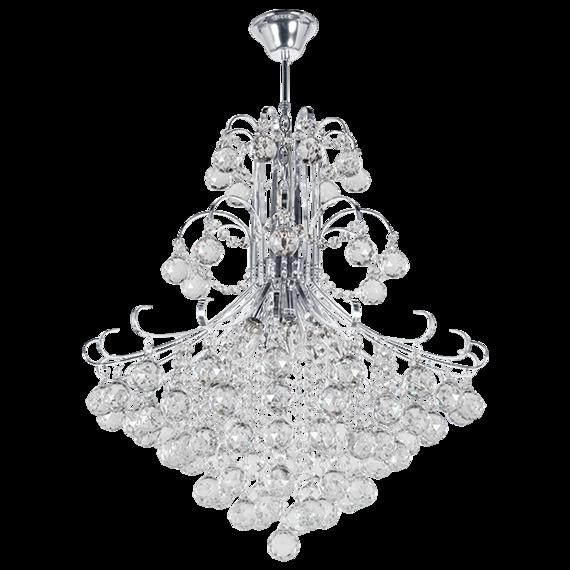 Lampa Wisząca kryształowa Elem Barcelona 6245/6 8C chrom