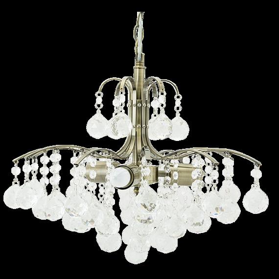 Lampa Wisząca kryształowa Elem Monte Carlo 6247/3 21QG mosiądz
