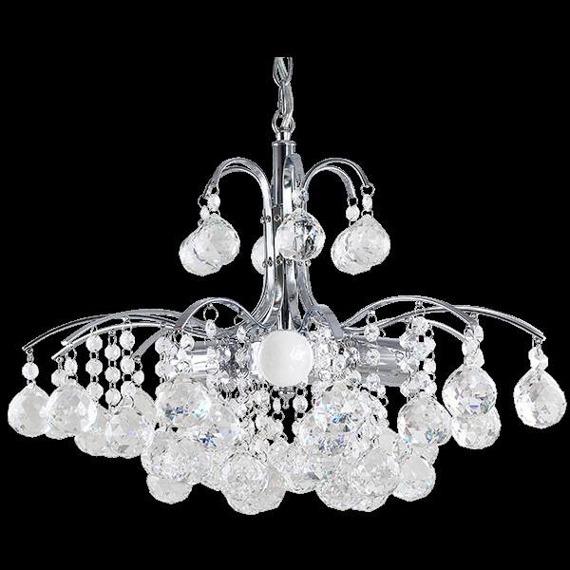 Lampa Wisząca kryształowa Elem Monte Carlo 6247/3 8C chrom