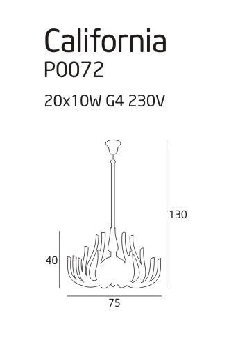 Lampa wisząca MaxLight CALIFORNIA P0072