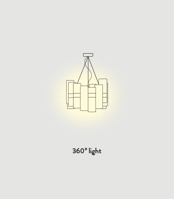 Lampa wisząca SLAMP LA LOLLO Pewter / White