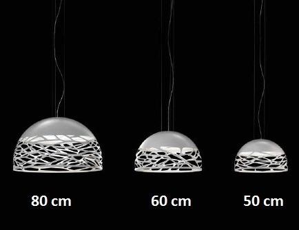Studio Italia Design Kelly Medium Dome 60 biała Lampa Wisząca 60 cm