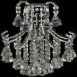 Lampa Ścienna kryształowa Elem Barcelona 6248/1 9BC grafit